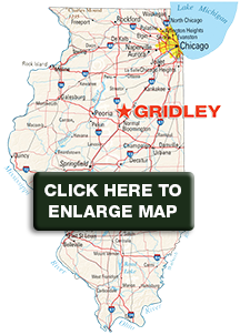 Gridley IL Map